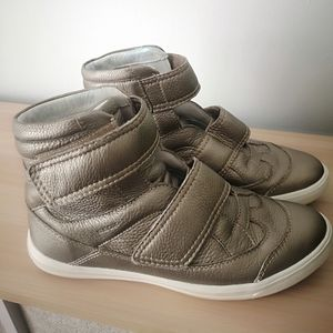 Geox respira gold metallic high top sneakers